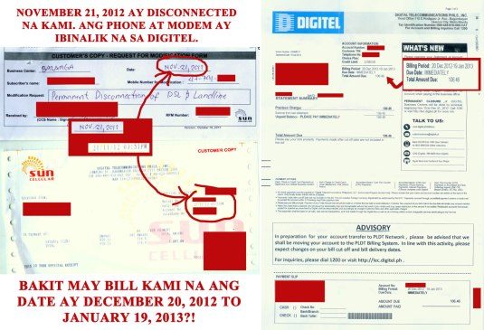 Disconnected Nov. 21, 2012... billed for Dec. 20, 2012 to Jan. 19, 2013 ?!
