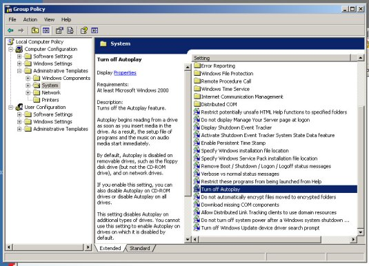 Group Policy Editor (Windows XP)
