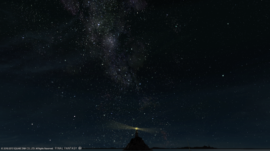 A clear nightsky at Costa del Sola, Limsa Lominsa.