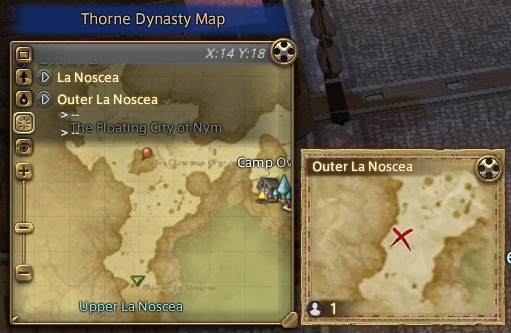 Outer La Noscea south of the Floating City of Nym